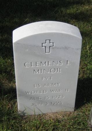 MINOR, CLEMENS E. - Pottawattamie County, Iowa | CLEMENS E. MINOR
