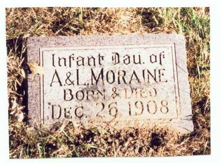 MORAINE, INFANT DAUGHTER - Pottawattamie County, Iowa   INFANT DAUGHTER MORAINE