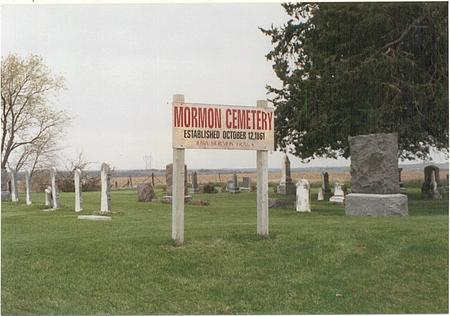 MORMON, CEMETERY - Pottawattamie County, Iowa | CEMETERY MORMON