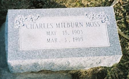 MOSS, CHARLES MILBURN - Pottawattamie County, Iowa   CHARLES MILBURN MOSS