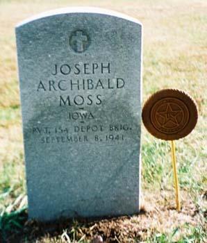 MOSS, JOSEPH ARCHIBALD - Pottawattamie County, Iowa | JOSEPH ARCHIBALD MOSS