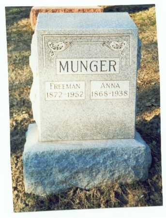 MUNGER, FREEMAN EDGAR - Pottawattamie County, Iowa | FREEMAN EDGAR MUNGER