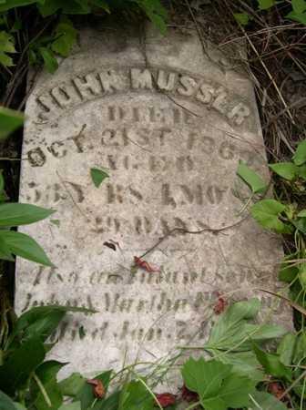 MUSSER, JOHN - Pottawattamie County, Iowa   JOHN MUSSER