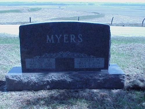 MYERS, JENNIE W. & JOSEPH - Pottawattamie County, Iowa | JENNIE W. & JOSEPH MYERS