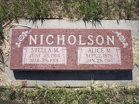 SIDDEN NICHOLSON, ALICE M. - Pottawattamie County, Iowa | ALICE M. SIDDEN NICHOLSON