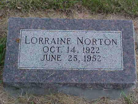 NORTON, LORRAINE - Pottawattamie County, Iowa   LORRAINE NORTON