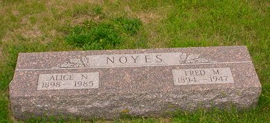 NOYES, ALICE N - Pottawattamie County, Iowa   ALICE N NOYES