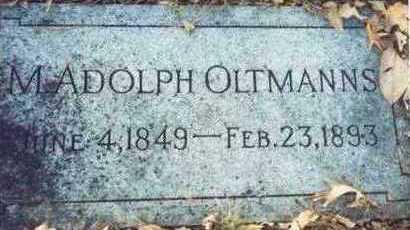 OLTMANNS, M. ADOLPH - Pottawattamie County, Iowa   M. ADOLPH OLTMANNS