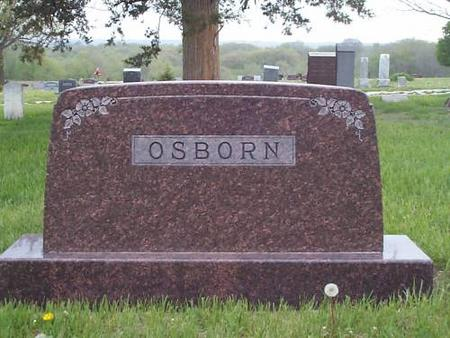 OSBORN, FAMILY STONE - Pottawattamie County, Iowa   FAMILY STONE OSBORN