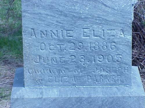 PARKER, ANNIE ELIZA - Pottawattamie County, Iowa | ANNIE ELIZA PARKER