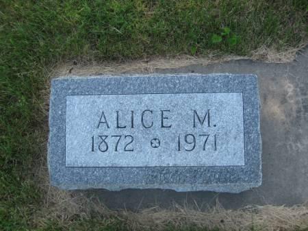 PATTERSON, ALICE M. - Pottawattamie County, Iowa   ALICE M. PATTERSON