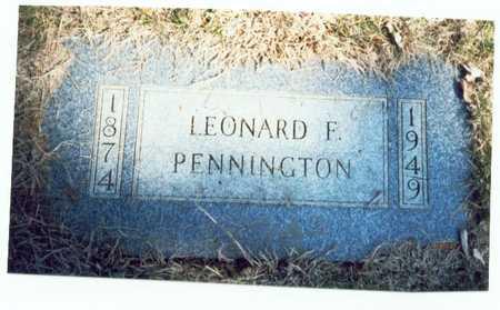 PENNINGTON, LEONARD F. - Pottawattamie County, Iowa | LEONARD F. PENNINGTON
