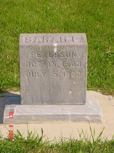 PETERSON, SARAH E. - Pottawattamie County, Iowa | SARAH E. PETERSON
