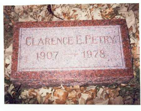 PETRY, CLARENCE EDWARD - Pottawattamie County, Iowa | CLARENCE EDWARD PETRY