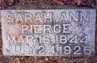 PIERCE, SARAH ANN - Pottawattamie County, Iowa | SARAH ANN PIERCE