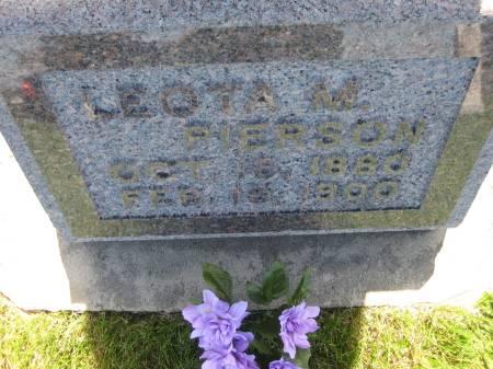 PIERSON, LEOTA M. - Pottawattamie County, Iowa   LEOTA M. PIERSON