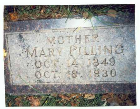 PILLING, MARY - Pottawattamie County, Iowa   MARY PILLING