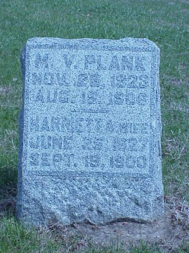 PLANK, M.V. & HARRIETT A. - Pottawattamie County, Iowa | M.V. & HARRIETT A. PLANK