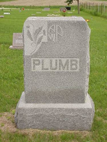 PLUMB, HEADSTONE - Pottawattamie County, Iowa | HEADSTONE PLUMB