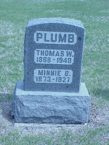 PLUMB, THOMAS W. & MINNIE B. - Pottawattamie County, Iowa | THOMAS W. & MINNIE B. PLUMB