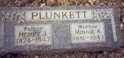 PLUNKETT, MINNIE A. - Pottawattamie County, Iowa   MINNIE A. PLUNKETT