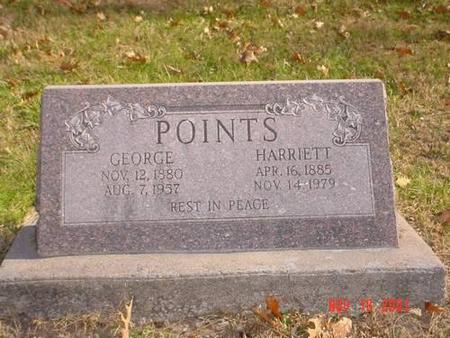 POINTS, GEORGE & HARRIETT - Pottawattamie County, Iowa | GEORGE & HARRIETT POINTS