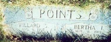 POINTS, BERTHA I. - Pottawattamie County, Iowa | BERTHA I. POINTS