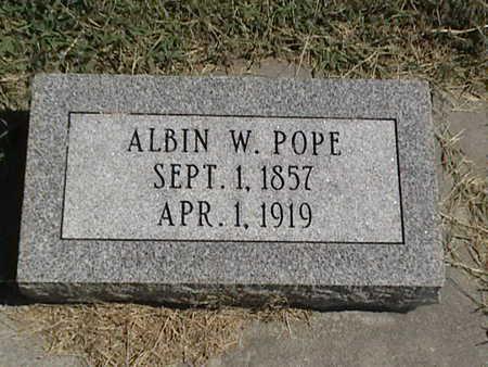 POPE, ALBIN W. - Pottawattamie County, Iowa   ALBIN W. POPE