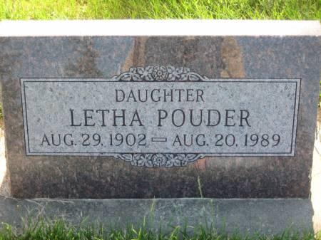 POUDER, LETHA - Pottawattamie County, Iowa   LETHA POUDER