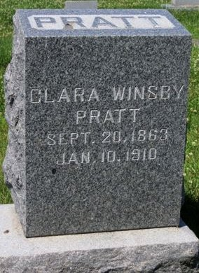 PRATT, CLARA - Pottawattamie County, Iowa   CLARA PRATT