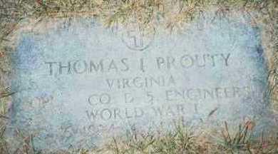 PROUTY, THOMAS I. - Pottawattamie County, Iowa   THOMAS I. PROUTY
