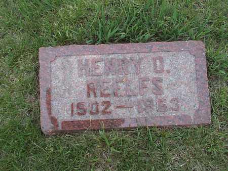 REELFS, HENRY D. - Pottawattamie County, Iowa | HENRY D. REELFS