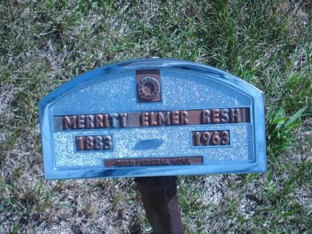 RESH, MERRITT ELMER - Pottawattamie County, Iowa   MERRITT ELMER RESH