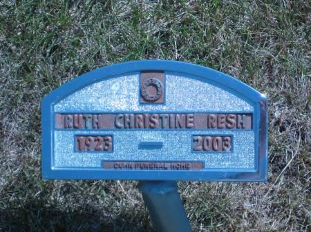 RESH, RUTH CHRISTINE - Pottawattamie County, Iowa | RUTH CHRISTINE RESH