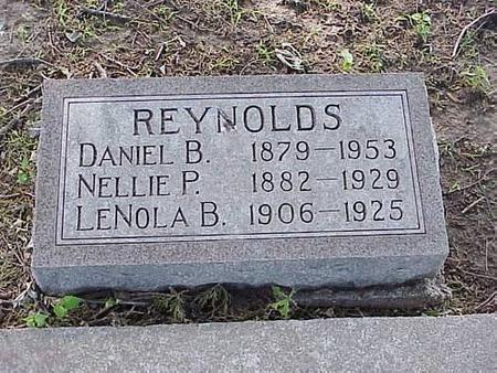 REYNOLDS, DANIEL B., LENOLA B., NELLIE P. - Pottawattamie County, Iowa | DANIEL B., LENOLA B., NELLIE P. REYNOLDS