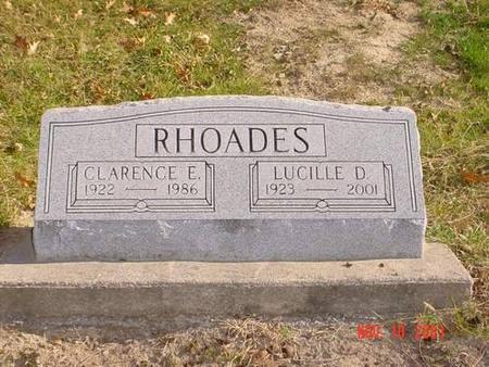RHOADES, CLARENCE E. & LUCILLE D. - Pottawattamie County, Iowa   CLARENCE E. & LUCILLE D. RHOADES