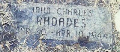 RHOADES, JOHN CHARLES - Pottawattamie County, Iowa | JOHN CHARLES RHOADES