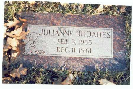RHOADES, JULIANNE - Pottawattamie County, Iowa   JULIANNE RHOADES