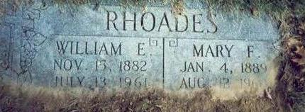 RHOADES, MARY F. - Pottawattamie County, Iowa | MARY F. RHOADES