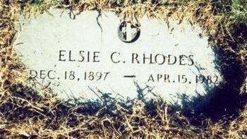 RHODES, ELSIE C - Pottawattamie County, Iowa   ELSIE C RHODES