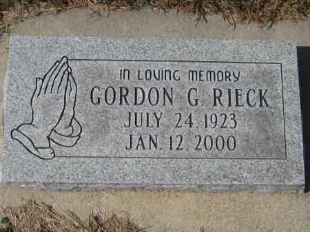RIECK, GORDON G. - Pottawattamie County, Iowa | GORDON G. RIECK