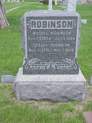 ROBINSON, RUSSELL & BETSEY - Pottawattamie County, Iowa | RUSSELL & BETSEY ROBINSON