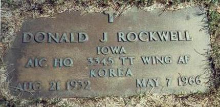 ROCKWELL, DONALD J. - Pottawattamie County, Iowa | DONALD J. ROCKWELL
