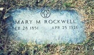 ROCKWELL, MARY M - Pottawattamie County, Iowa | MARY M ROCKWELL