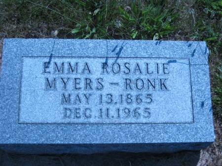 MYERS RONK, EMMA ROSALIE - Pottawattamie County, Iowa | EMMA ROSALIE MYERS RONK