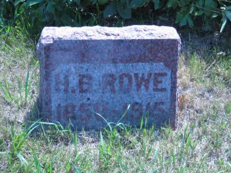 ROWE, H. B. - Pottawattamie County, Iowa | H. B. ROWE