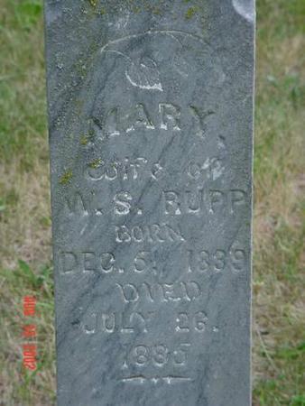 RUPP, MARY INSCRIPTION - Pottawattamie County, Iowa | MARY INSCRIPTION RUPP