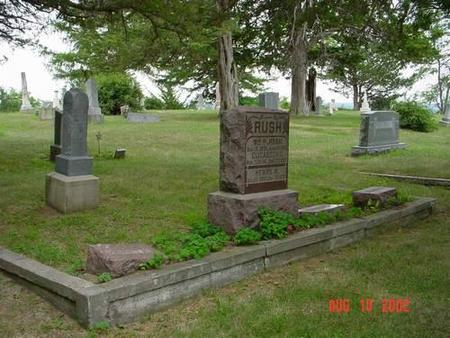 RUSH, WILLIAM R. & ELIZABETH C. [PLOT] - Pottawattamie County, Iowa | WILLIAM R. & ELIZABETH C. [PLOT] RUSH