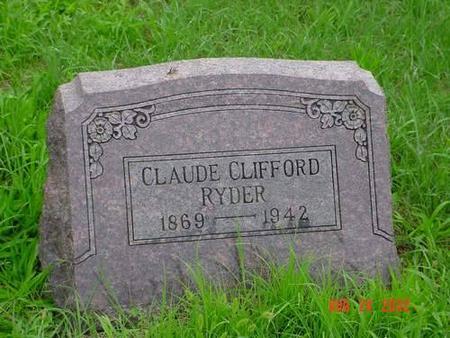 RYDER, CLAUDE CLIFFORD - Pottawattamie County, Iowa | CLAUDE CLIFFORD RYDER