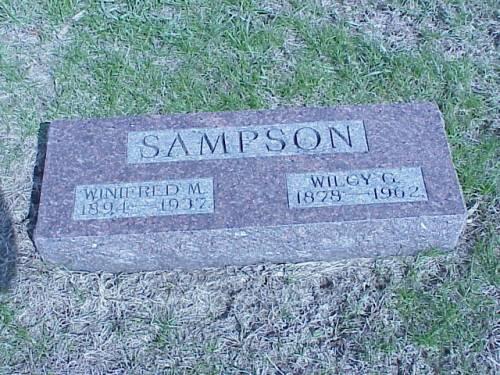 SAMPSON, WINIFRED M. & WILOY G. - Pottawattamie County, Iowa | WINIFRED M. & WILOY G. SAMPSON